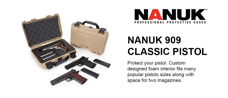 NANUK 909 classic Pistol Case